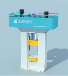 电动螺旋压力机锻压动画视频